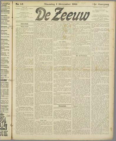 De Zeeuw. Christelijk-historisch nieuwsblad voor Zeeland 1919-12-01