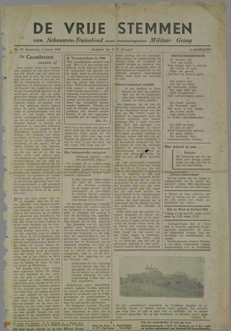 Vrije Stemmen van Schouwen-Duiveland, tevens mededeelingenblad Militair Gezag 1946