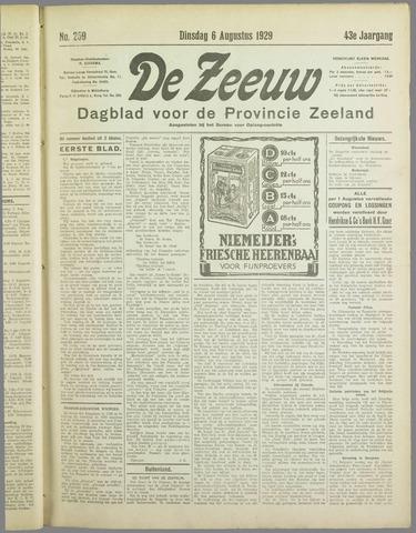 De Zeeuw. Christelijk-historisch nieuwsblad voor Zeeland 1929-08-06