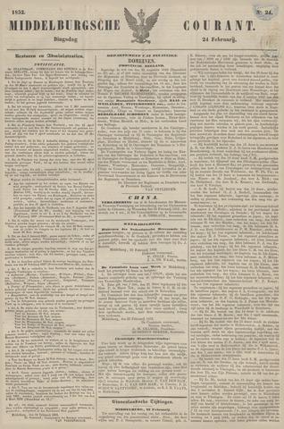 Middelburgsche Courant 1852-02-24