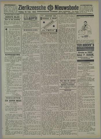 Zierikzeesche Nieuwsbode 1933-02-24