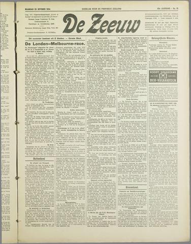 De Zeeuw. Christelijk-historisch nieuwsblad voor Zeeland 1934-10-22