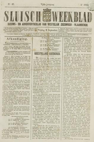 Sluisch Weekblad. Nieuws- en advertentieblad voor Westelijk Zeeuwsch-Vlaanderen 1864-09-09