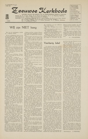 Zeeuwsche kerkbode, weekblad gewijd aan de belangen der gereformeerde kerken/ Zeeuwsch kerkblad 1964-05-01