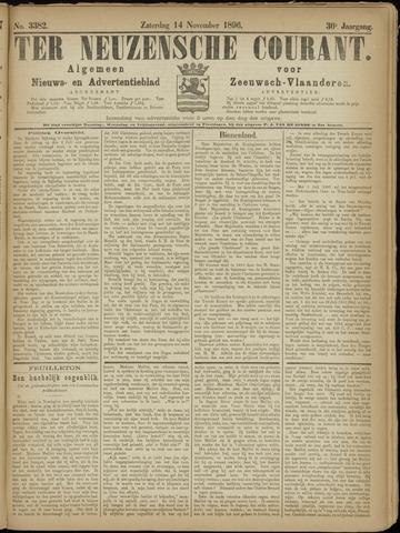 Ter Neuzensche Courant. Algemeen Nieuws- en Advertentieblad voor Zeeuwsch-Vlaanderen / Neuzensche Courant ... (idem) / (Algemeen) nieuws en advertentieblad voor Zeeuwsch-Vlaanderen 1896-11-14