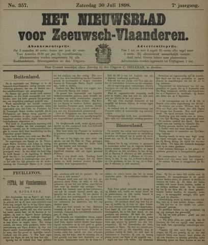 Nieuwsblad voor Zeeuwsch-Vlaanderen 1898-07-30