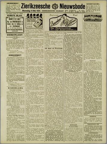 Zierikzeesche Nieuwsbode 1924-05-14