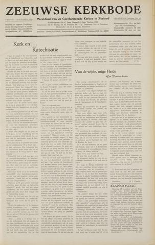 Zeeuwsche kerkbode, weekblad gewijd aan de belangen der gereformeerde kerken/ Zeeuwsch kerkblad 1958-11-07