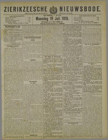 Zierikzeesche Nieuwsbode 1915-07-19