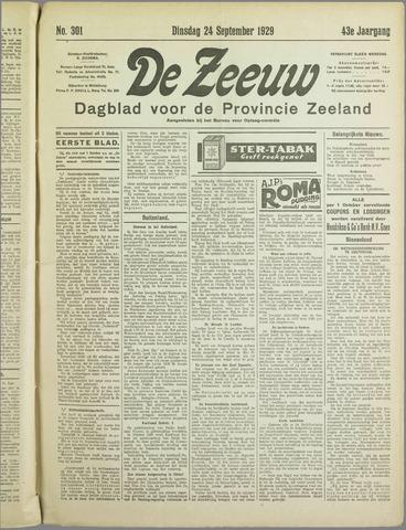 De Zeeuw. Christelijk-historisch nieuwsblad voor Zeeland 1929-09-24