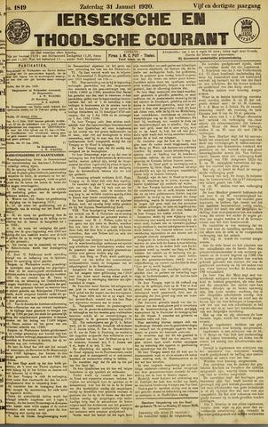 Ierseksche en Thoolsche Courant 1920-01-31