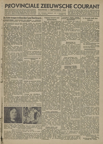 Provinciale Zeeuwse Courant 1944-09-04
