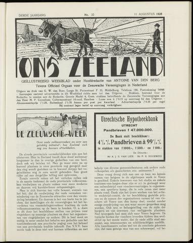 Ons Zeeland / Zeeuwsche editie 1928-08-11