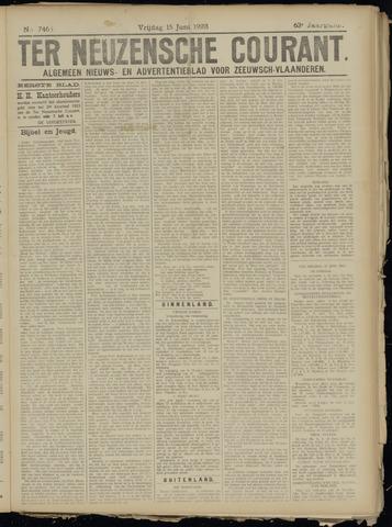 Ter Neuzensche Courant. Algemeen Nieuws- en Advertentieblad voor Zeeuwsch-Vlaanderen / Neuzensche Courant ... (idem) / (Algemeen) nieuws en advertentieblad voor Zeeuwsch-Vlaanderen 1923-06-15