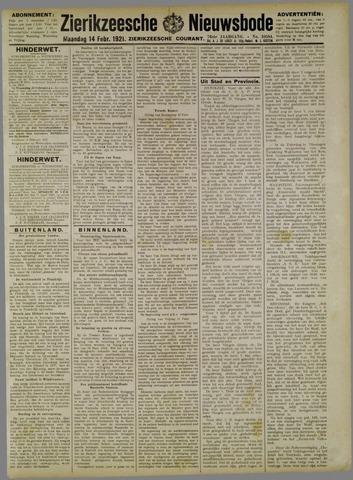 Zierikzeesche Nieuwsbode 1921-02-14