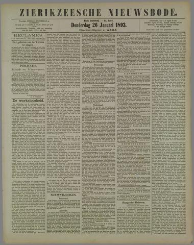 Zierikzeesche Nieuwsbode 1893-01-26