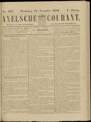 Axelsche Courant 1888-11-14