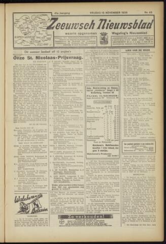 Zeeuwsch Nieuwsblad/Wegeling's Nieuwsblad 1935-11-15