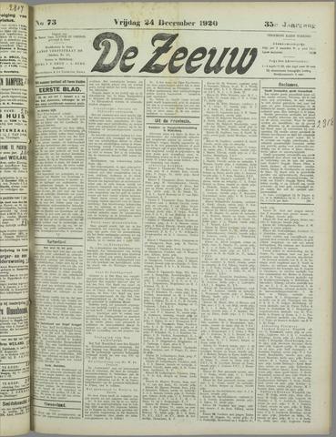 De Zeeuw. Christelijk-historisch nieuwsblad voor Zeeland 1920-12-24