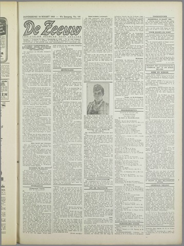De Zeeuw. Christelijk-historisch nieuwsblad voor Zeeland 1943-03-18