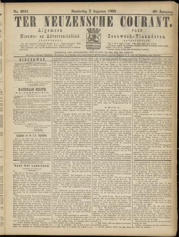 Ter Neuzensche Courant. Algemeen Nieuws- en Advertentieblad voor Zeeuwsch-Vlaanderen / Neuzensche Courant ... (idem) / (Algemeen) nieuws en advertentieblad voor Zeeuwsch-Vlaanderen 1900-08-02