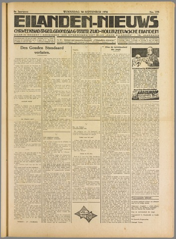 Eilanden-nieuws. Christelijk streekblad op gereformeerde grondslag 1936-09-30