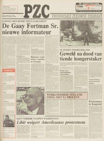 Provinciale Zeeuwse Courant 1981-08-21