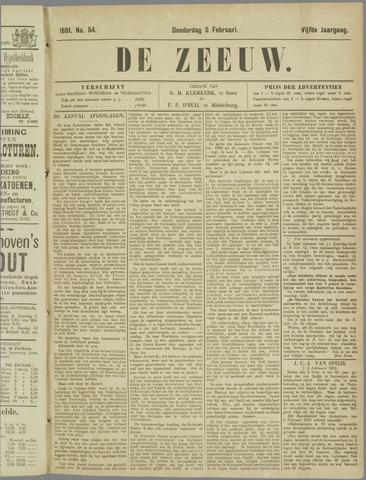 De Zeeuw. Christelijk-historisch nieuwsblad voor Zeeland 1891-02-05