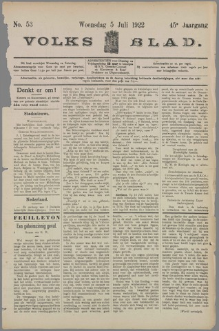 Volksblad 1922-07-05