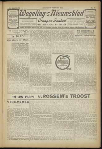 Zeeuwsch Nieuwsblad/Wegeling's Nieuwsblad 1931-02-20