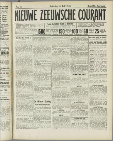 Nieuwe Zeeuwsche Courant 1916-07-15