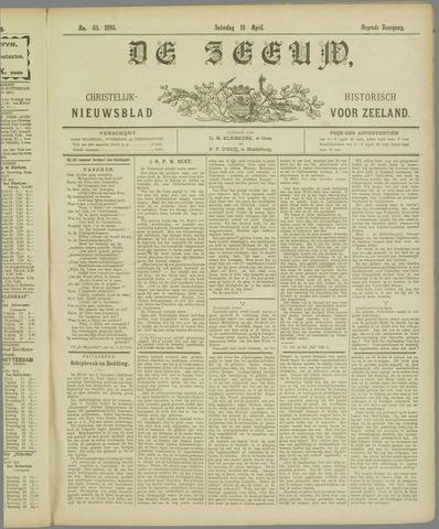 De Zeeuw. Christelijk-historisch nieuwsblad voor Zeeland 1895-04-13