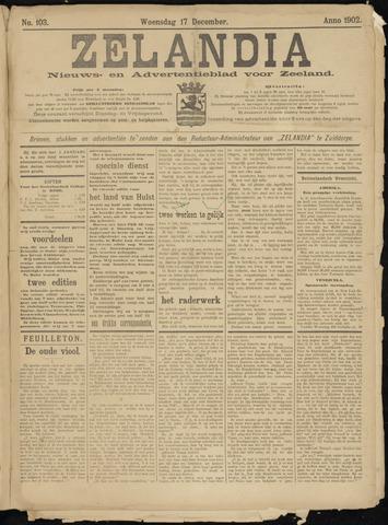 Zelandia. Nieuws-en advertentieblad voor Zeeland | edities: Het Land van Hulst en De Vier Ambachten 1902-12-17