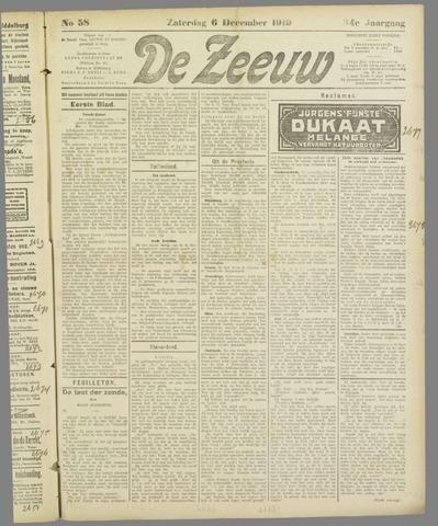 De Zeeuw. Christelijk-historisch nieuwsblad voor Zeeland 1919-12-06
