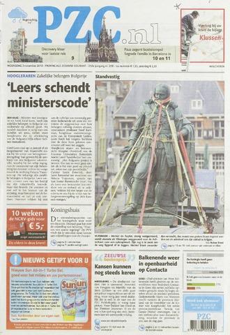 Provinciale Zeeuwse Courant 2010-11-03