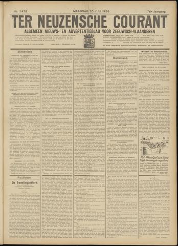 Ter Neuzensche Courant. Algemeen Nieuws- en Advertentieblad voor Zeeuwsch-Vlaanderen / Neuzensche Courant ... (idem) / (Algemeen) nieuws en advertentieblad voor Zeeuwsch-Vlaanderen 1936-07-20