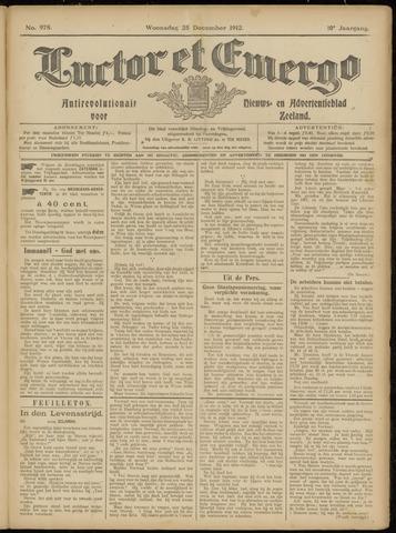 Luctor et Emergo. Antirevolutionair nieuws- en advertentieblad voor Zeeland / Zeeuwsch-Vlaanderen. Orgaan ter verspreiding van de christelijke beginselen in Zeeuwsch-Vlaanderen 1912-12-25