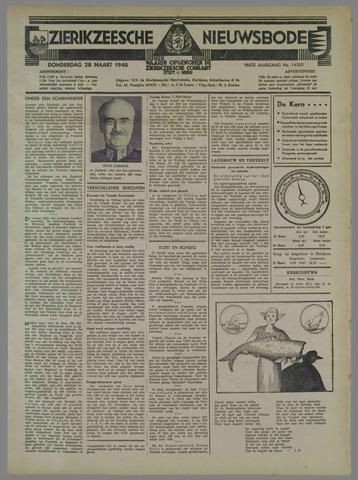 Zierikzeesche Nieuwsbode 1940-03-28