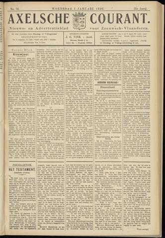 Axelsche Courant 1936