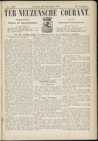 Ter Neuzensche Courant. Algemeen Nieuws- en Advertentieblad voor Zeeuwsch-Vlaanderen / Neuzensche Courant ... (idem) / (Algemeen) nieuws en advertentieblad voor Zeeuwsch-Vlaanderen 1879-09-27