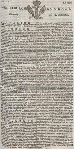 Middelburgsche Courant 1778-11-10