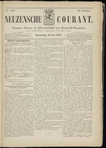 Ter Neuzensche Courant. Algemeen Nieuws- en Advertentieblad voor Zeeuwsch-Vlaanderen / Neuzensche Courant ... (idem) / (Algemeen) nieuws en advertentieblad voor Zeeuwsch-Vlaanderen 1876-06-28