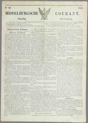 Middelburgsche Courant 1855-02-20