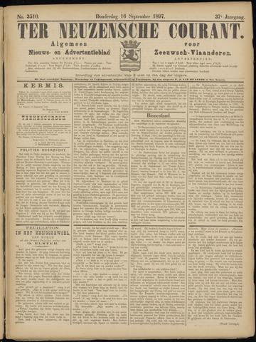 Ter Neuzensche Courant. Algemeen Nieuws- en Advertentieblad voor Zeeuwsch-Vlaanderen / Neuzensche Courant ... (idem) / (Algemeen) nieuws en advertentieblad voor Zeeuwsch-Vlaanderen 1897-09-16