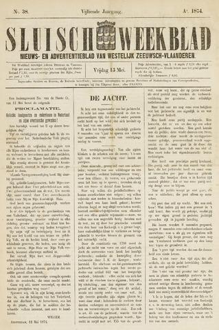 Sluisch Weekblad. Nieuws- en advertentieblad voor Westelijk Zeeuwsch-Vlaanderen 1874-05-15