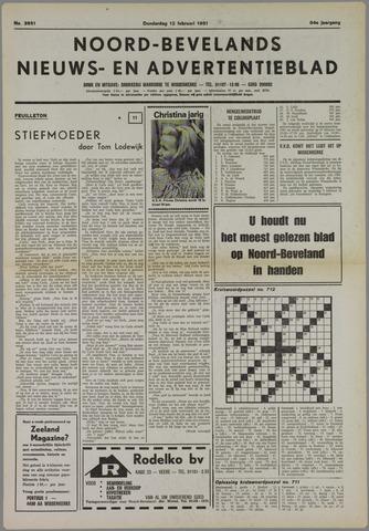 Noord-Bevelands Nieuws- en advertentieblad 1981-02-12