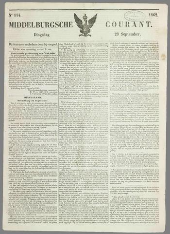 Middelburgsche Courant 1862-09-23