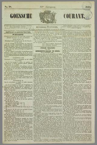 Goessche Courant 1855-10-04