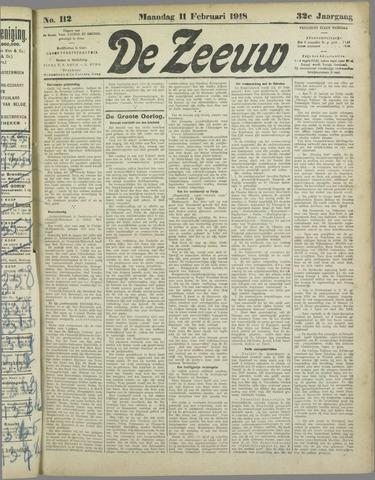 De Zeeuw. Christelijk-historisch nieuwsblad voor Zeeland 1918-02-11