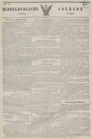 Middelburgsche Courant 1851-04-19